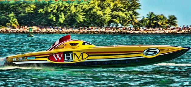 "Naturally aspirated 800-hp engines developed for the Superboat-class <em>WHM Motorsports</em> team will be offered in more manageable form to high-performance pleasure-boat owners. Photo by <a href=""http://naplesimage.com"">Jay Nichols/Naples Image</a>.</em>"