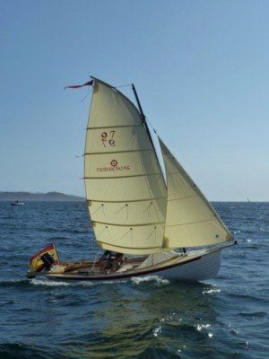 Norseboat under sail
