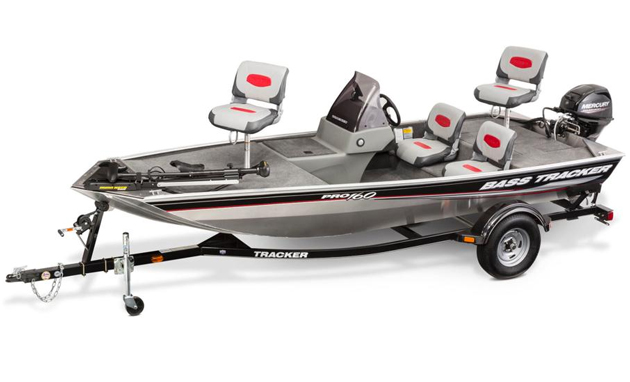 bass boat package from tracker