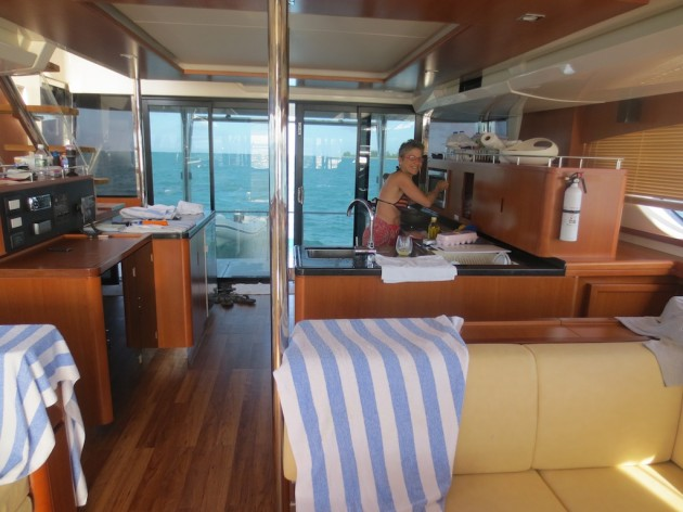 MarineMax 484 powercat galley