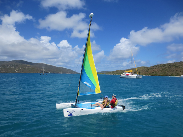 hobie-cat-sailing-Bitter-End-Yacht-Club-British-Virgin-Islands