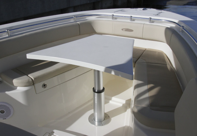 A photo of the Cobia 277 CC forward table.