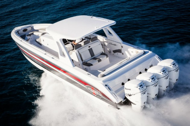 Released at the 2015 Miami International Boat Show, the 41' GTR luxury performance center-console is already in demand.