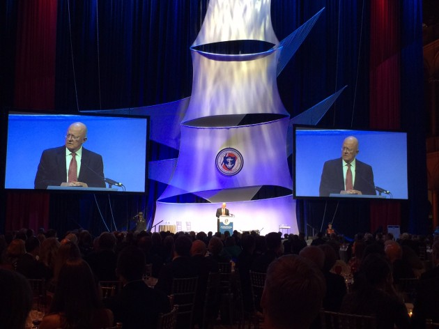 Director of National Intelligence James R. Clapper speaks about the United States Coast Guard's importance as an intelligence-gathering tool. Photo by Gary Reich