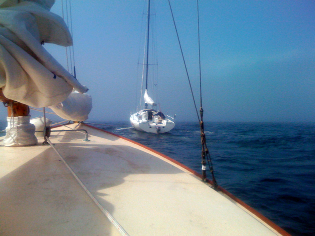 Sailboats can tow other boats too, as long as they have adequate cleats and horsepower.