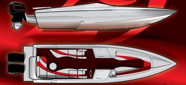 The open-bow 29 Defiant is Active Thunder Powerboats' answer to the center-console invasion in the go-fast boat market.