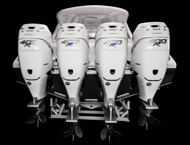 The 400R is the most powerful offering in the Mercury Verado outboard engine line.