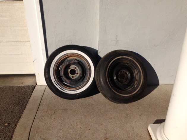 This is what the wheels looked like before restoration...