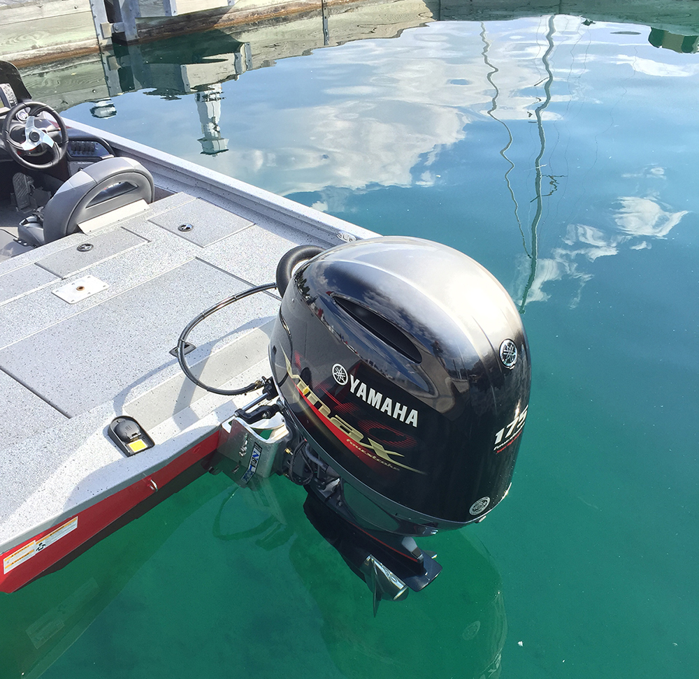 Yamaha's new 175 VMAX SHO outboard provides the thrills on the Xpress X19 bass boat.
