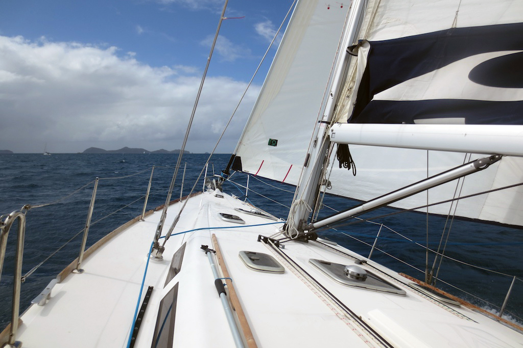 bareboat charter in BVI underway