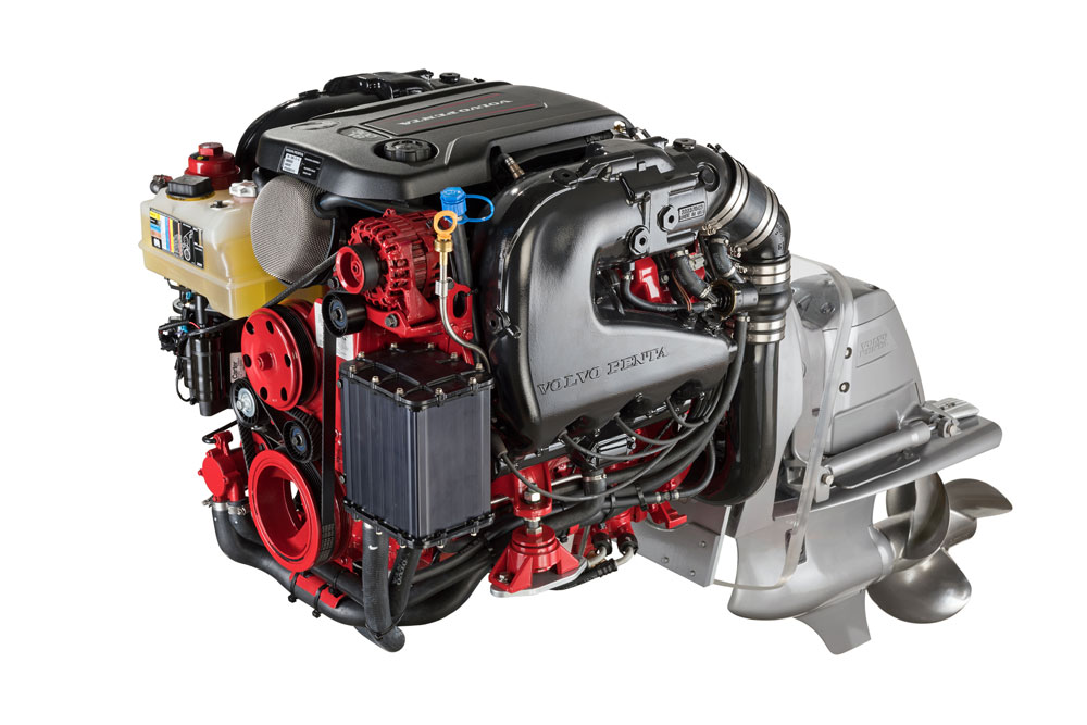 volvo 300 volvo penta introduces next generation v8 and v6 gasoline engines