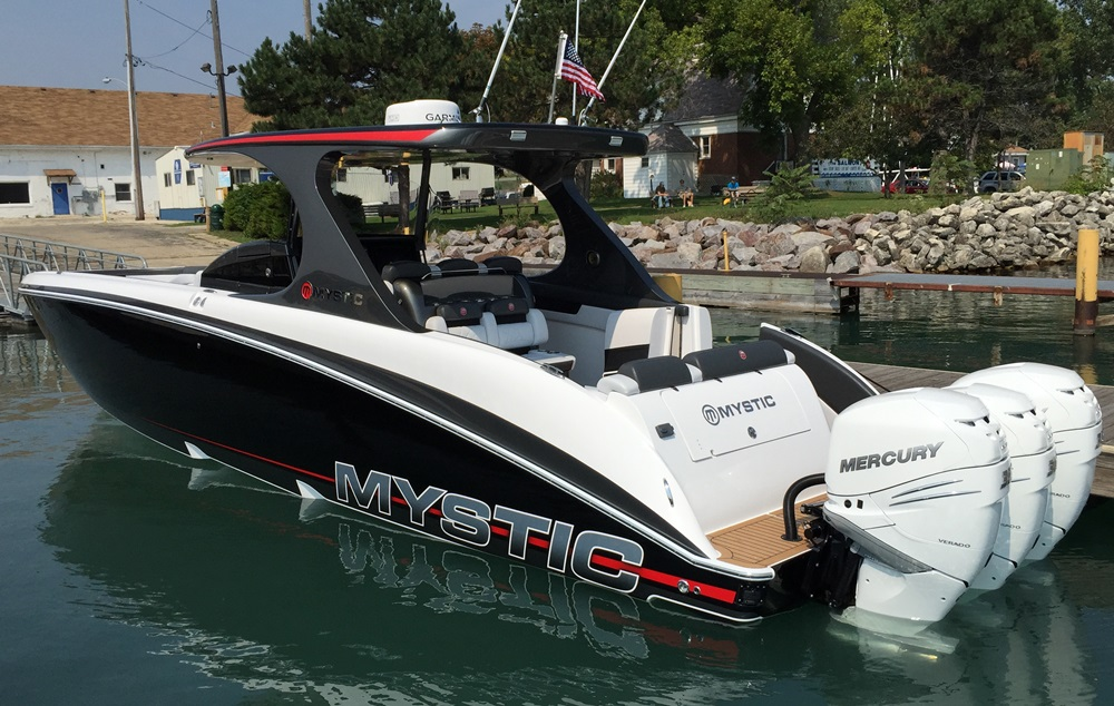 Mystic m4200 luxury abounds for 400 hp boat motor price