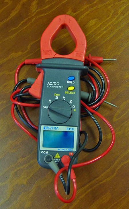 Figure 7. The Blue Sea 8110 is a good multimeter for novice marine electricians.