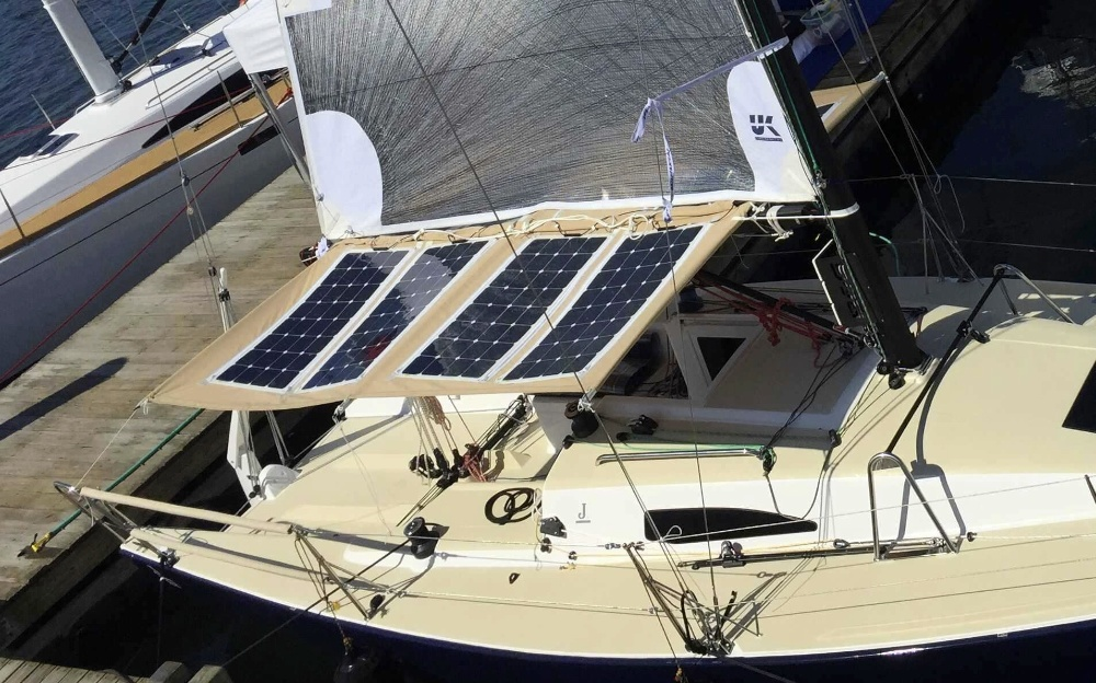 Bimini-mounted-solar-panels-on-the-J/88