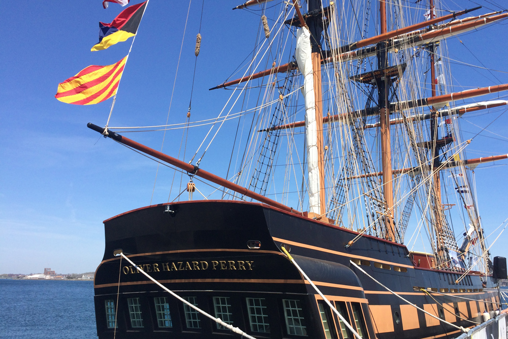 Flags on the Oliver Hazard Perry
