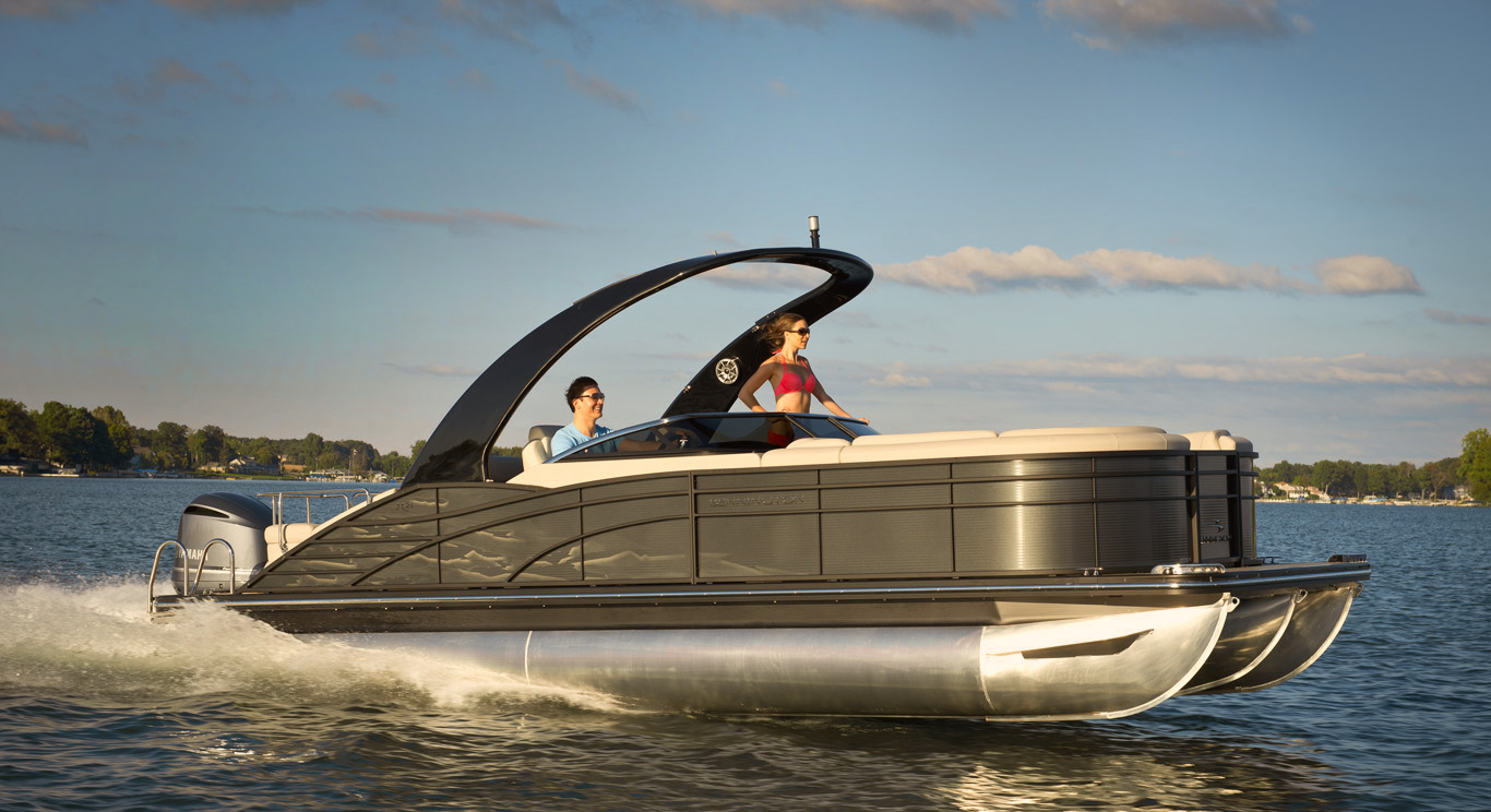 Think pontoon boats are slow and ungainly? Think again.