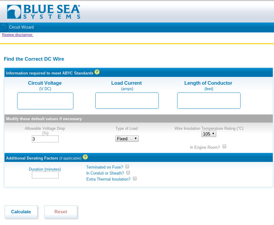 Blue Sea Systems' Circuit Wizard app is available online and for iOS and Android.