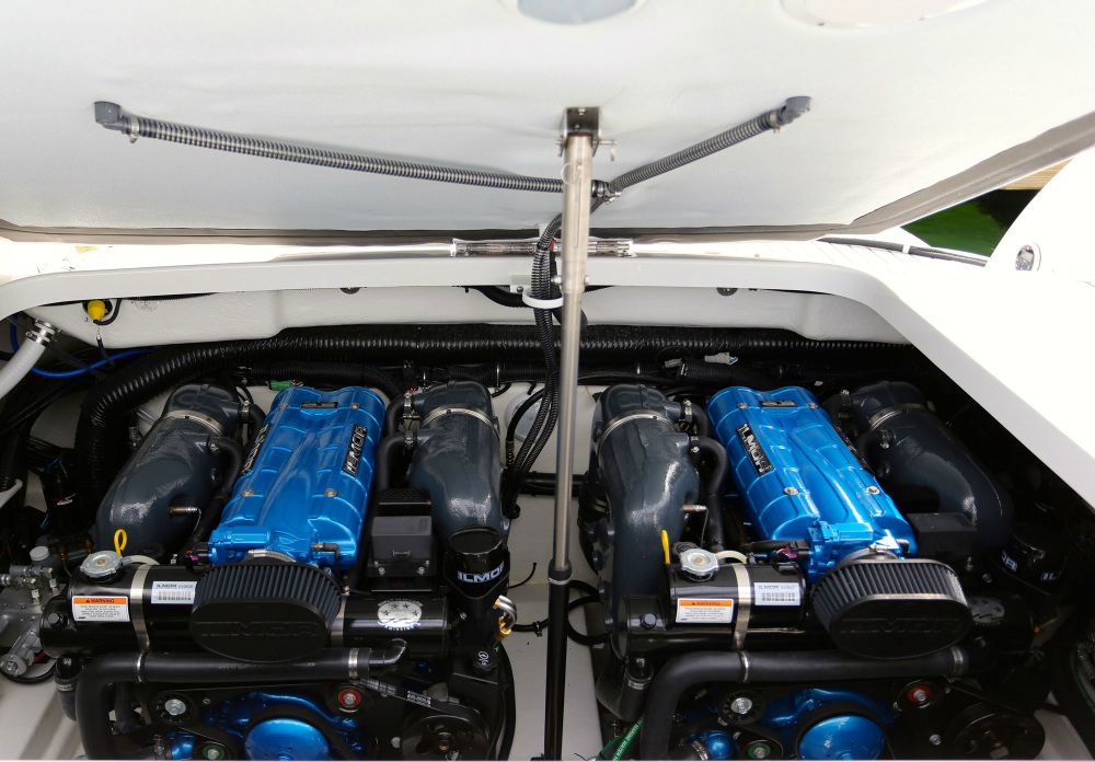 The 6.2L engines were packaged with performance-oriented aesthetics such as supercharger-styled plenum covers.