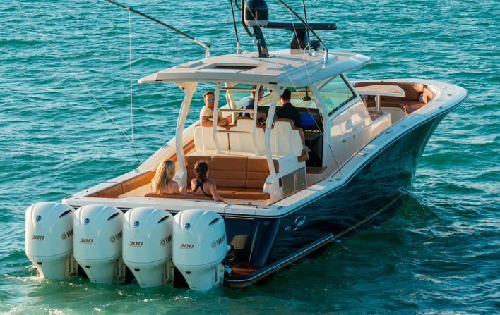 The Scout 420 LXF is a luxury center-console.