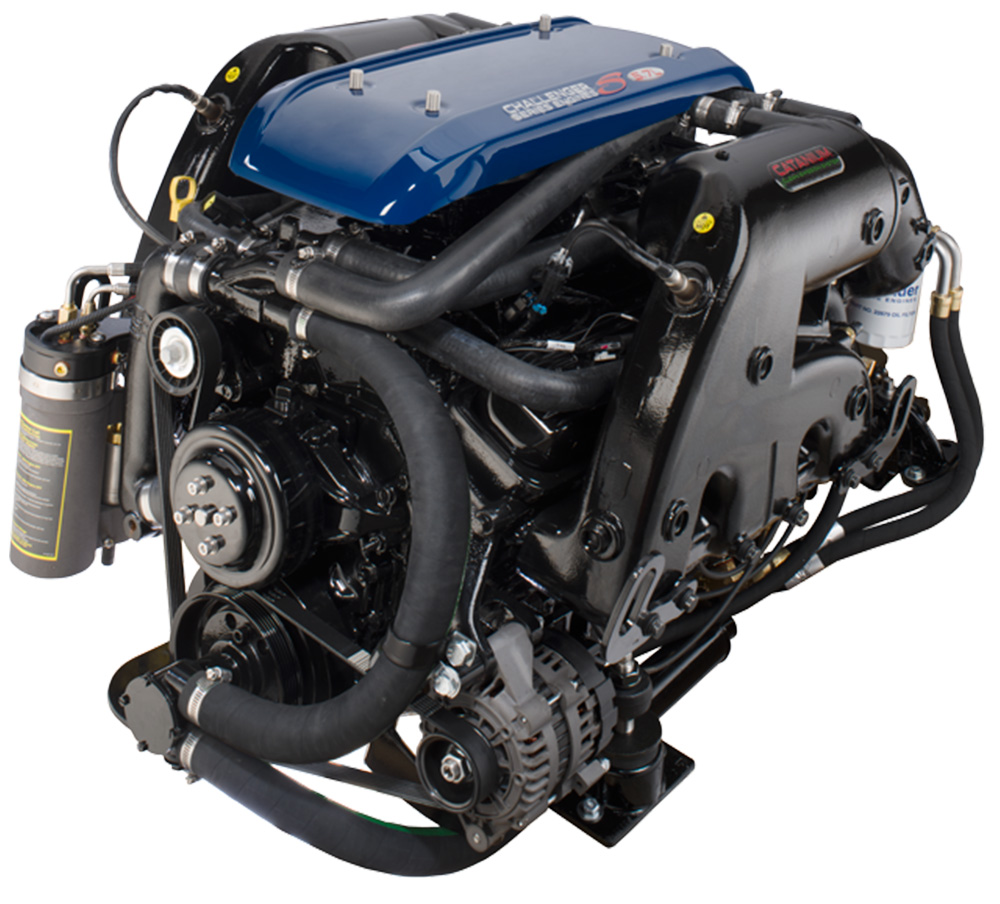 A Crusader 5.7-liter gasoline engine with multi-port fuel injection. Photo courtesy of Crusader Engines.