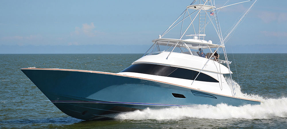 On many convertibles, like this Viking 80, entire bridgedecks are enclosed by clear canvass.