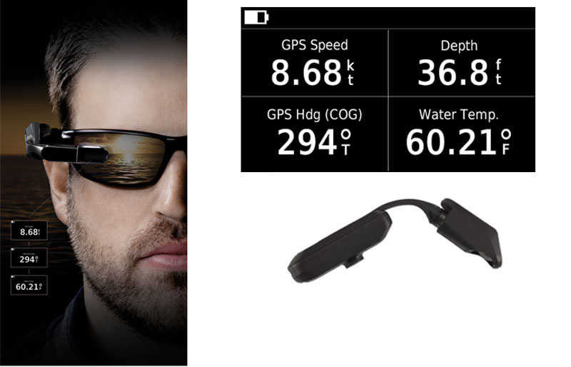 Feel like The Terminator at the helm, with a Garmin Nautix heads-up display clipped to your sunglasses.