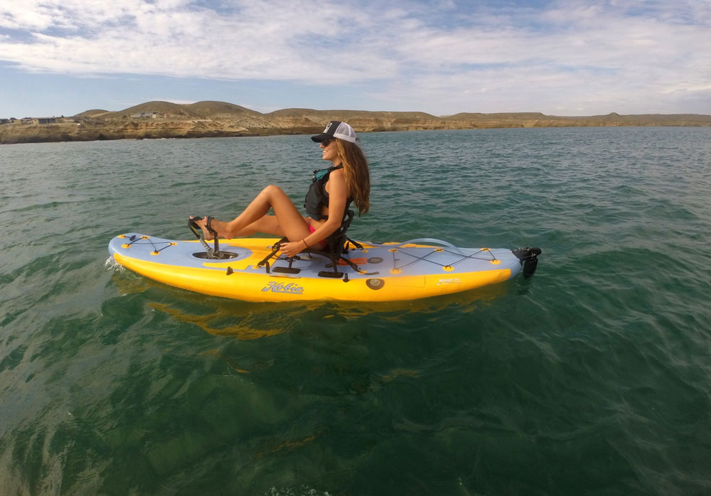 Paddled or peddled, the Hobie i11s is ready for exploration.
