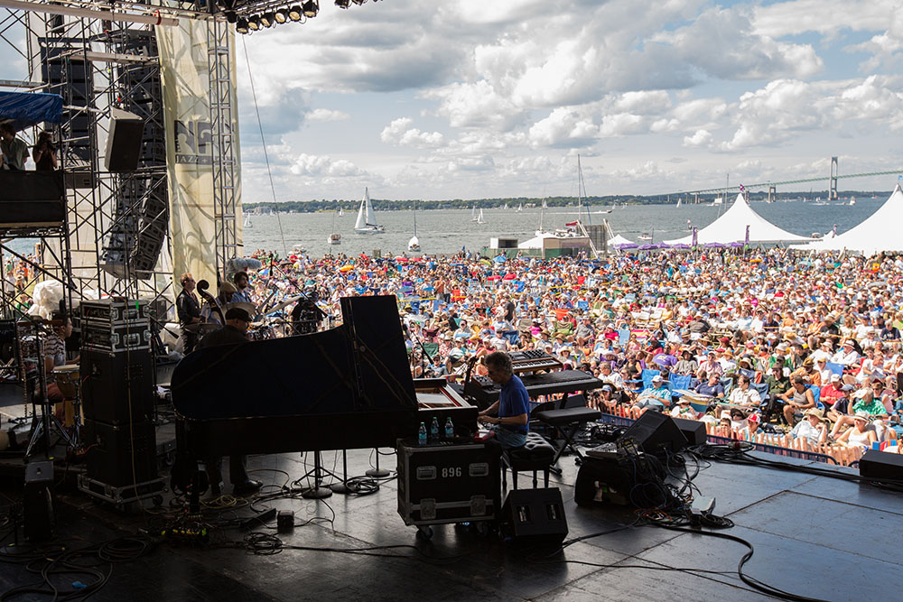 Chick Corea performing at the 2013 Newport Jazz Festival. Corea will be performing at this year's festival on Friday, July 29, 2016 (photo credit: Douglas Mason).