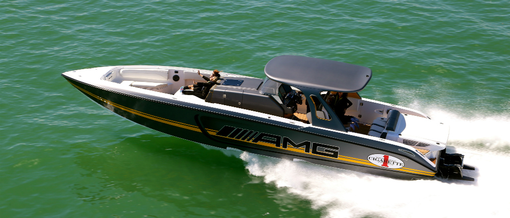The latest collaboration between Cigarette Racing Team and Mercedes-AMG, the one-of-a-kind 41 SD GTR center-console blends practicality with performance.