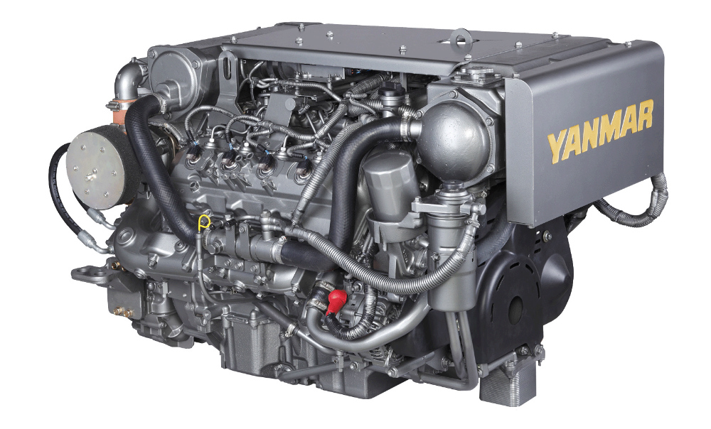 Yanmar's 8LV 320 marine diesel. Photo courtesy of Yanmar.