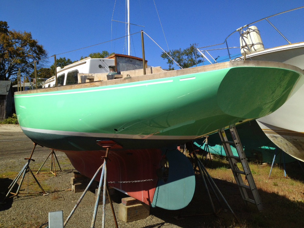 Repainting your topsides is a big project, but at least it will give you a palette of colors. All photos: Doug Logan.