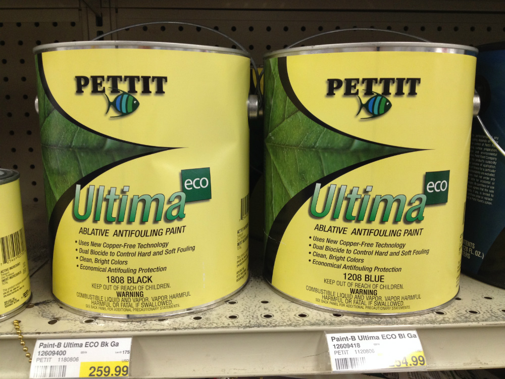 There are dozens of bottom paints on the market, most still with copper as the active ingredient. But as copper comes under increasing pressure as a biocide, new non-copper-based paints like Pettit's Ultima ECO and zinc omadine-based ePaints are coming to the forefront.