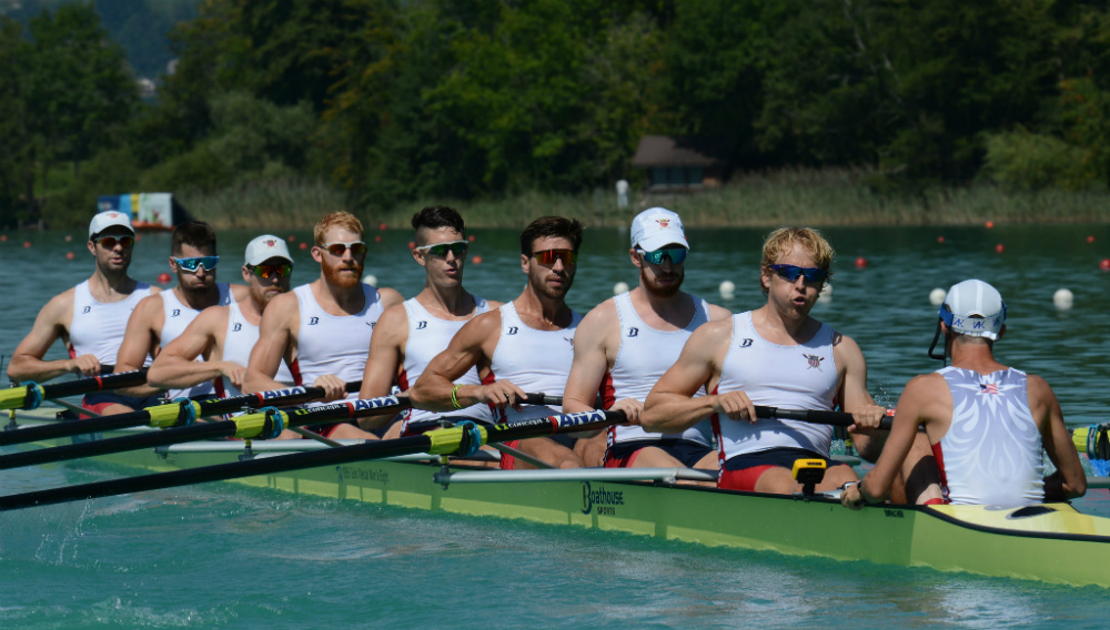 The U.S. Men's Eight at the 2015 World Rowing Championships. Photo courtesy of USRowing