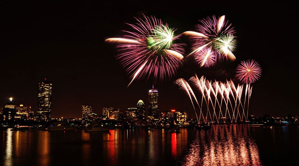 What better place to celebrate independence than from the Historic Boston Harbor? Photo courtesy of Boston Chamber of Commerce