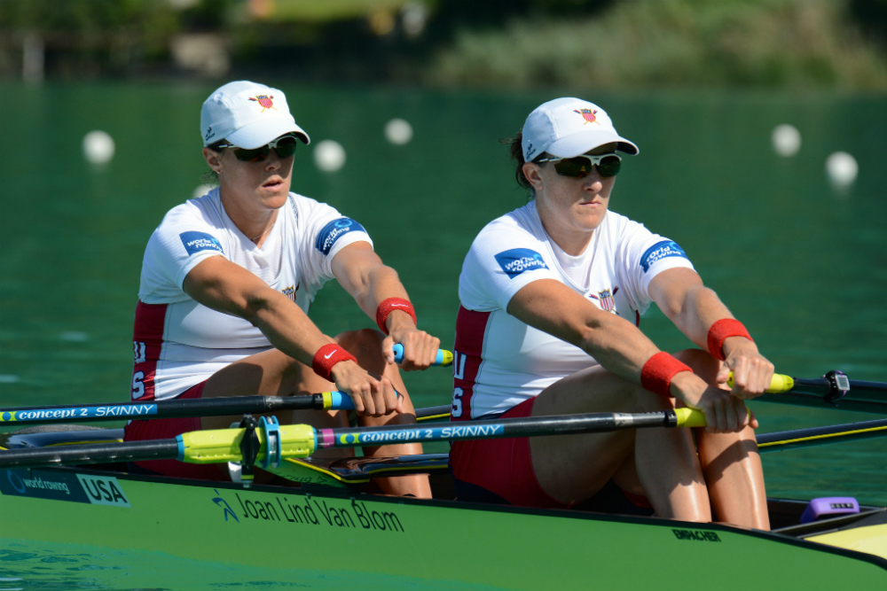 Ellen Tomek and Meghan O'Leary will be representing the U.S. in Women's Double Sculls in Rio.