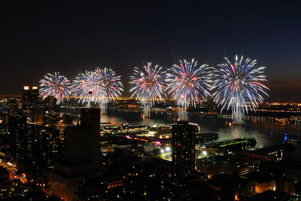 Providing some of the most scenic vistas for a fireworks show, the annual New York City July Fourth celebration on the East River is not to be missed. Photo courtesy of nycgo.com