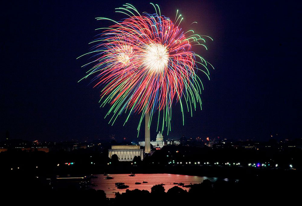 The Potomac River is an excellent spot to enjoy the Washington, D.C., July 4 fireworks from. Photo courtesy of National Park Service