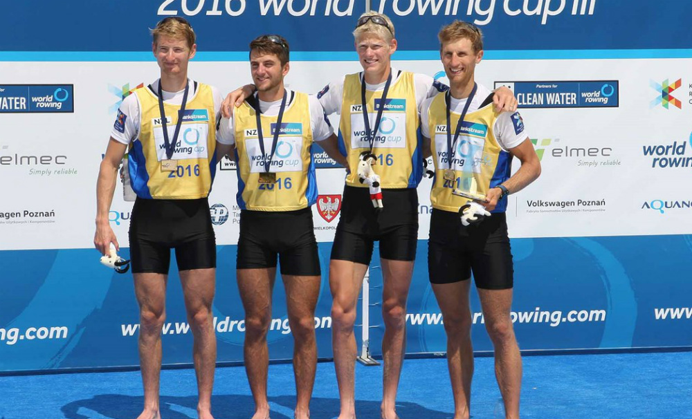 New Zealand's Lightweight Men's Four are at the top of their game going into Rio, with fierce competition to look forward to. Photo courtesy of World Rowing/FISA.