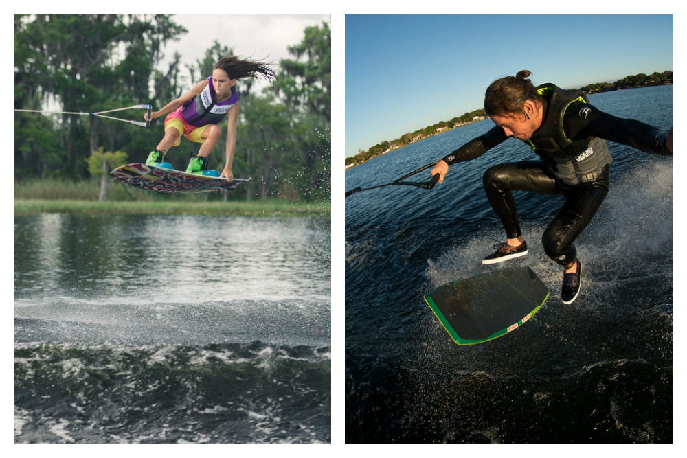 Photo courtesy of Mastercraft (right) and Yamaha (left).