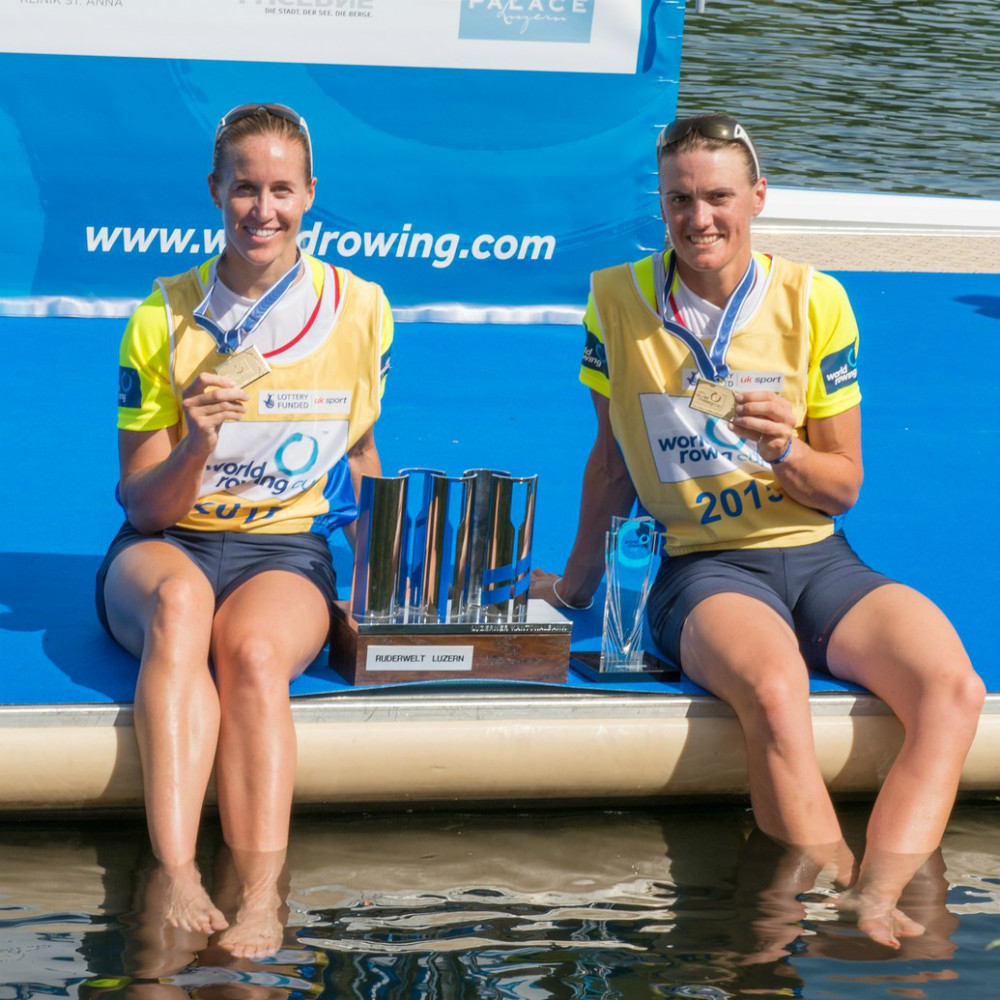Helen Glover, left, and Heather Stanning are Britain's hope for gold in the Women's Pair. Photo courtesy of British Rowing.