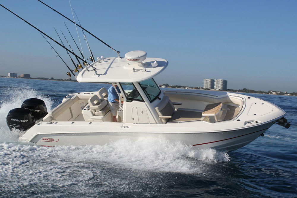 The all-new 2016 Boston Whaler 280 Outrage looks quite different from its predecessors, both inside and out.