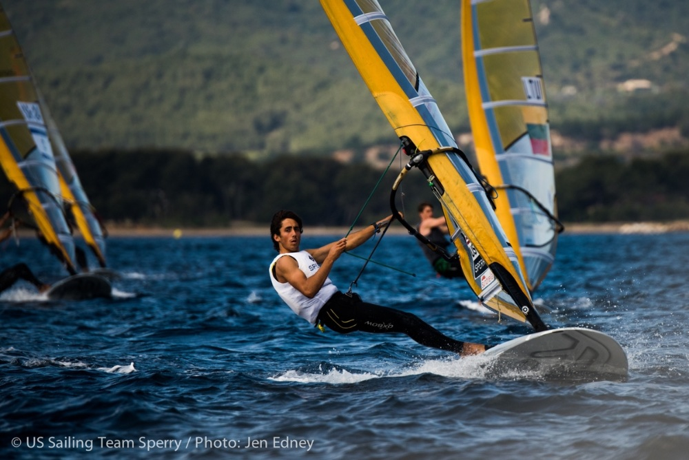 Pedro Pascual, the youngest sailor in the U.S. team, will be racing in the men's RS:X windsurfing class while on break from Florida Atlantic University. Photo: Will Ricketson.