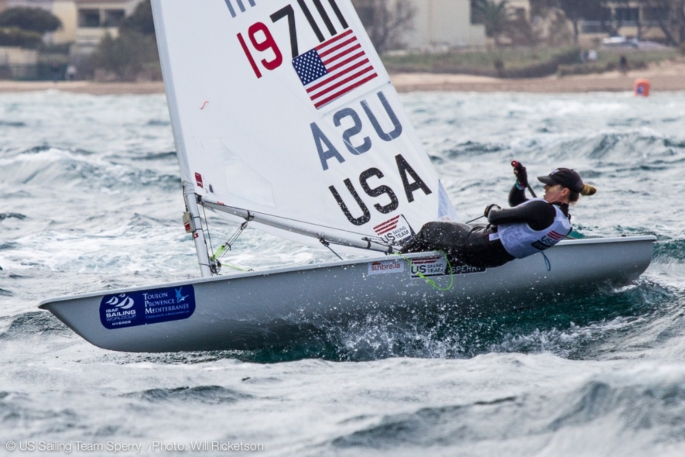 Sailing the Laser Radial, Paige Railey finished second in the recent World Championship. Photo: Will Ricketson.