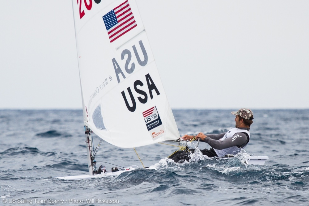 Charlie Buckingham will race for the U.S. in the Laser, the most popular racing class in the world. Photo: Will Ricketson.