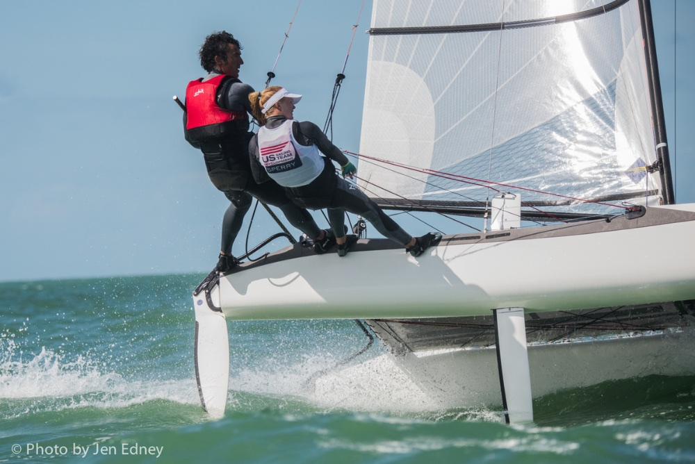 Catamarans return to the Olympics this year with a mixed-crew requirement and a new design, the Nacra 17; Bora Gulari and Louisa Chafee will represent the U.S..