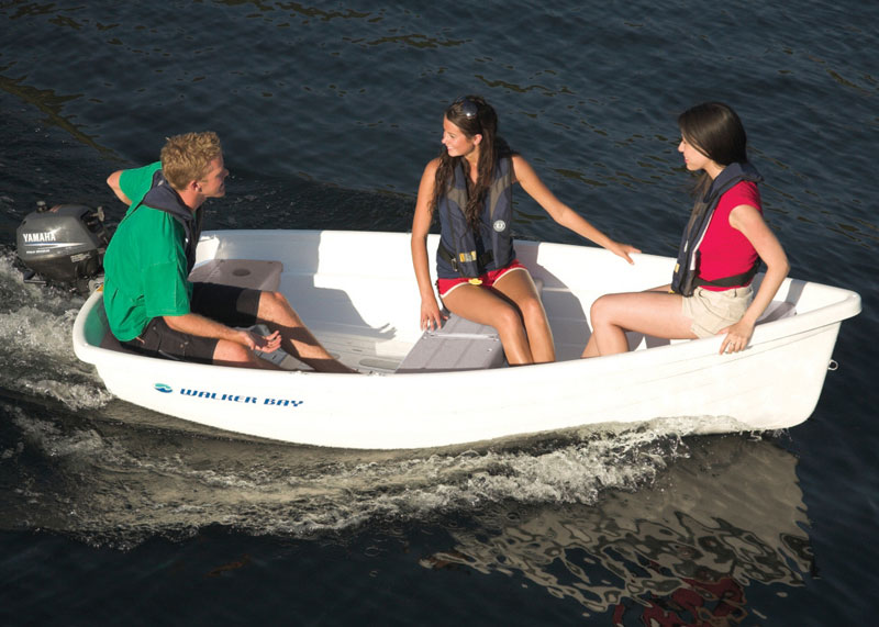 When it comes to dinghies, plastic boats like this Walker Bay 10 rule the roost.