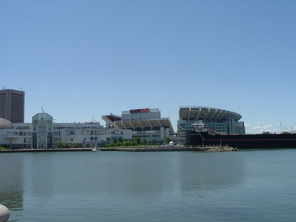 Go boating to the Dawg Pound, at FirstEnergy Stadium.