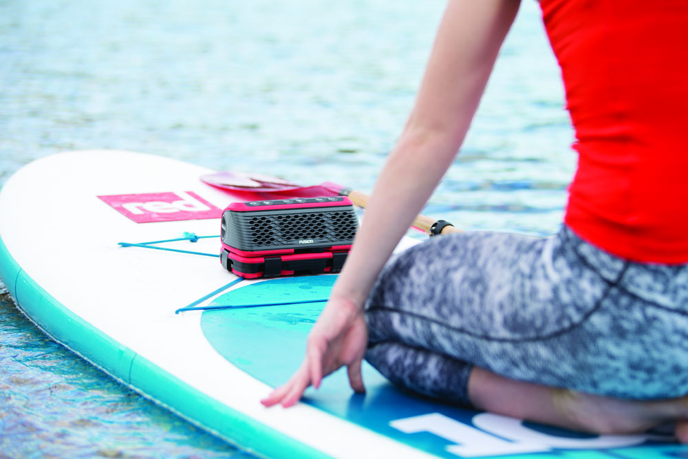 Jam while you paddle, with the Fusion StereoActive.