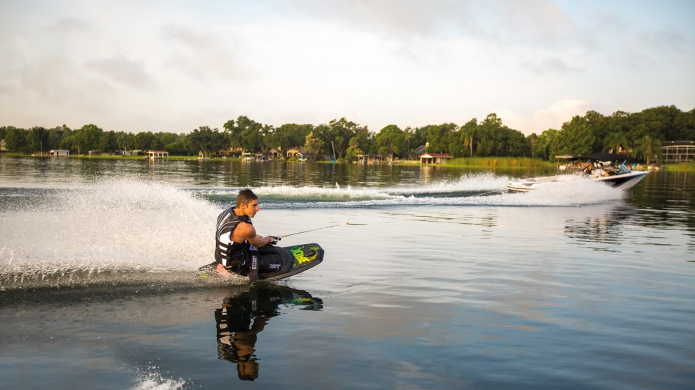 Welcome to kneeboarding—the beginning of your journey into the watersports line-up. Photo credit: Jobe Thrill.