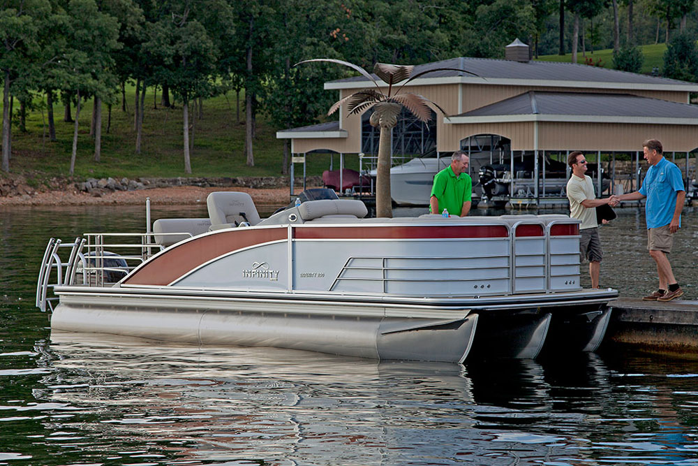 Lowe Infinity 250 CL: A Pontoon Boat with Purpose - boats com